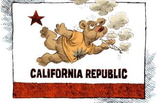 California Flag Weed Memes
