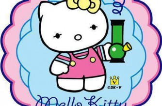 Mello Kitty Hello Kitty Spoof With Bong Weed memes