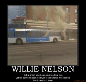 Willie Nelson Bus Hotbox Weed Memes