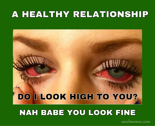 Do I Look High To You Healthy Relationship Weed Memes