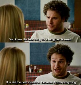 Seth Rogen Best Hangover Weed Memes
