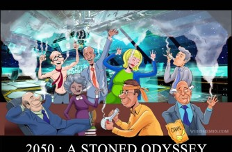 2050: A Stoned Odyssey Funny Weed Memes