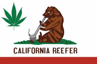 California Reefer Flag Spoof Weed Memes