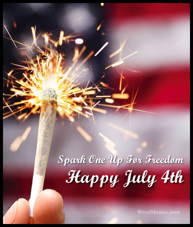 july 4 spark freedom weedmemes july 4th weed memes spark one up for freedom weed memes