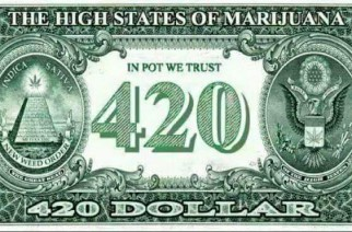 420 Dollar Bill With Marijuana Leaf Weed Memes
