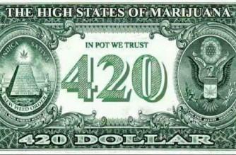 420 Dollar Bill With Marijuana Leaf Weed Memes