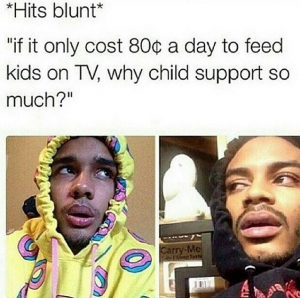 Hits Blunt Meme Child Support