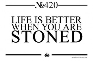 Life Is Better When You Are Stoned Marijuana Quotes & Weed Memes