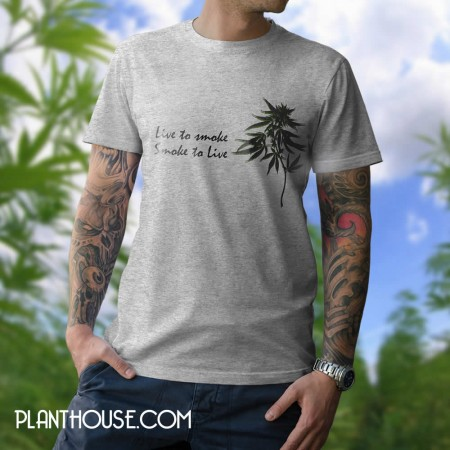 Live To Smoke Marijuana Tee