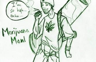 I'm So High Marijuana Man Weed Art Memes
