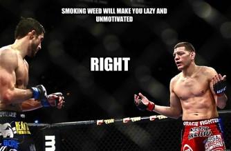 Nick Diaz Smokes Marijuana Motivation Weed Memes