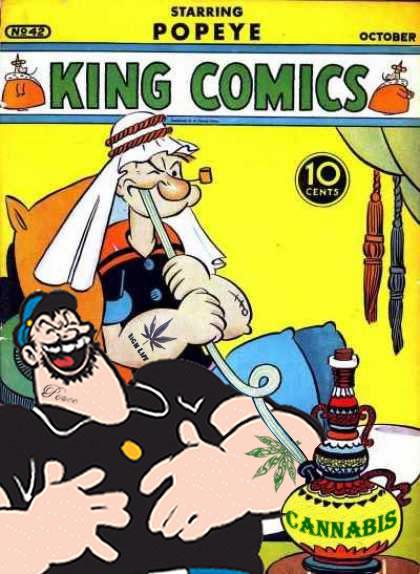 Popeye Brutus Comics Cannabis Hookah Weed Memes