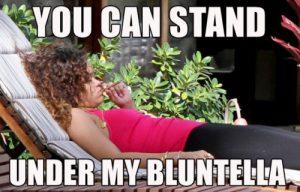 Rihanna Weed Memes Under Bluntella