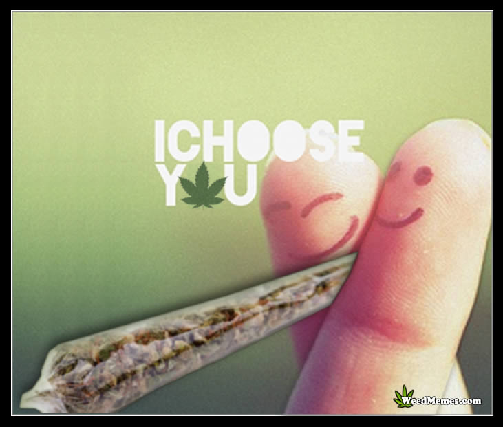 I Choose You I Choose Weed – Marijuana Memes