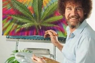 Paint Happy Marijuana Trees Bob Ross Weed Memes