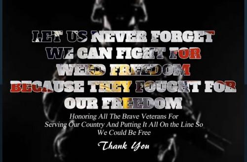 Veterans Day Weed Freedom Marijuana Pic