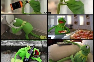 Kermit Shows Alcohol Vs Marijuana Weed Memes