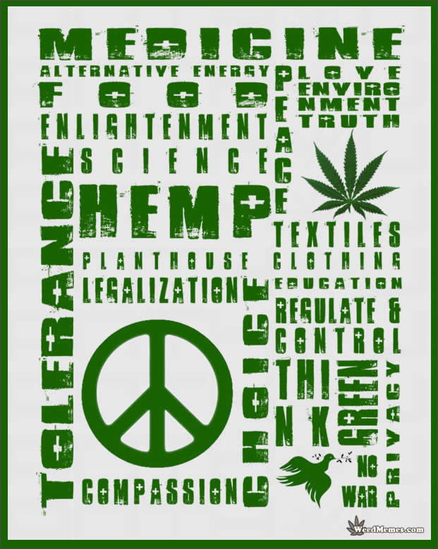 Legalize Cannabis Many Uses Of Hemp Think Green Weed Memes