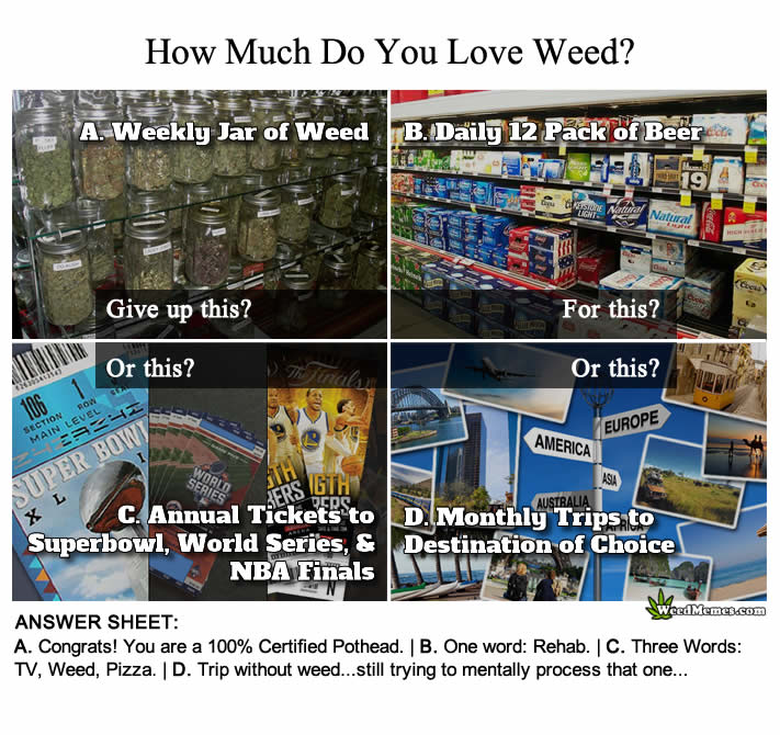 How Much Do You Love Weed? Pothead Test – Weed Memes