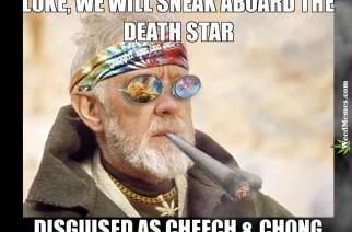 Obi Wan Kenobi & Luke As Cheech & Chong Weed Memes