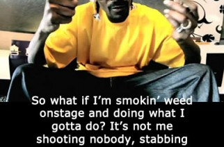 Smoking Weed Bad Influence? Snoop Dogg Weed Quote