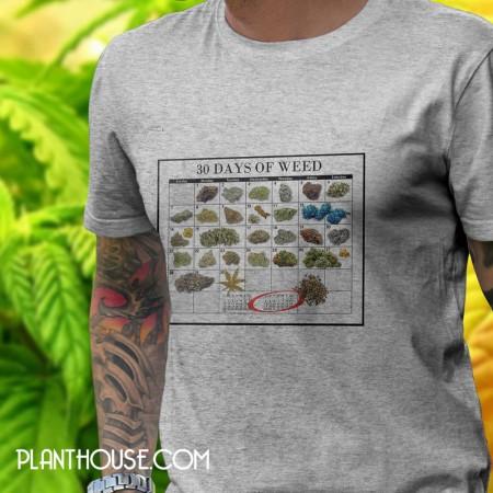 Weed Calendar T-Shirt Marijuana Tees