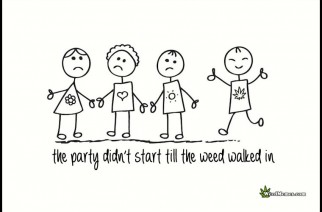 Party Didn't Start Till The Weed Walked In. Marijuana Memes