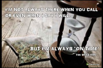 Weed Man On Time Quote