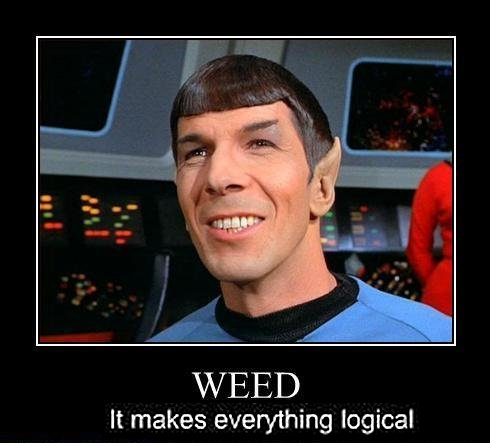 Dr. Spock Star Trek Weed Everything Logical Weed Memes