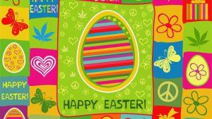 Happy Easter marijuana Leaf Pic