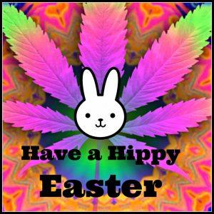 Hippy Easter Marijuana Leaf Pic