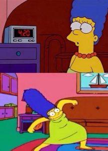 Marge Simpson 420 Weed Memes