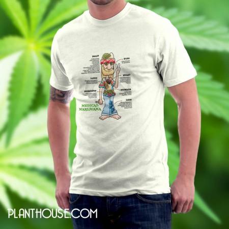 Medical Marijuana Hippy Tee Shirt