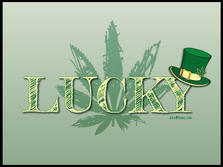 Happy St. Patrick's Day Lucky Marijuana Leaf Weed Memes