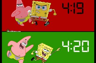 Spongebob 4:19 Minute Later 4:20 Smoke Weed Memes