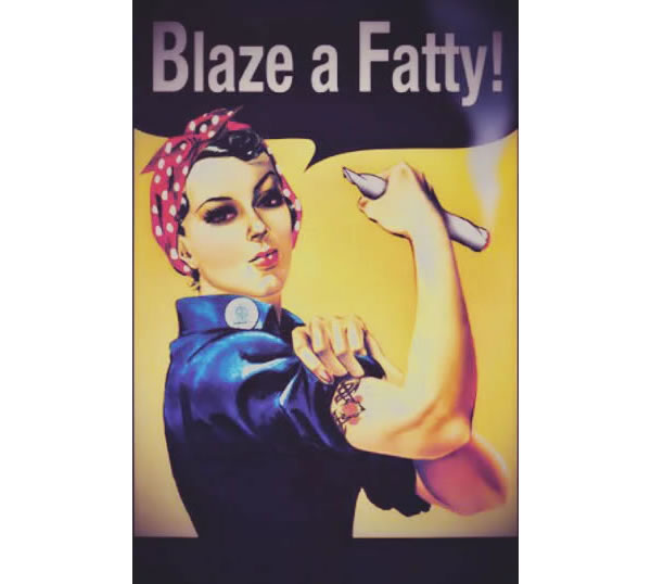 Blaze A Fatty Rosie The Riveter Smoke Weed Memes