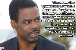 Chris Rock Marijuana vs Alcohol Quote Rogen vs Gibson Weed Quote