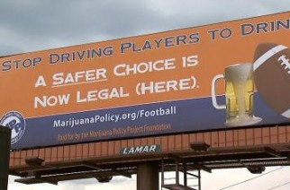 Football & Legal Weed vs Drinking Denver Billboard Weed Memes