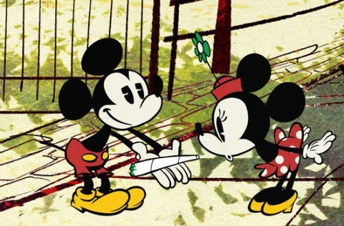 Mickey Showing Off Blunt To Minny Mouse Funny Weed Memes