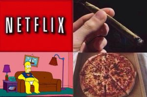 Netflix Chill Homer Weed Memes