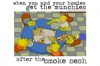 Simpsons Smoke Sesh With Homies Munchies Weed Memes