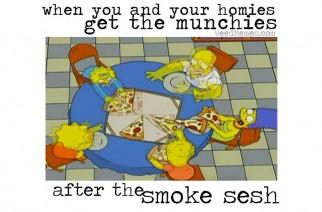 Simpsons Smoke Sesh Weed Memes
