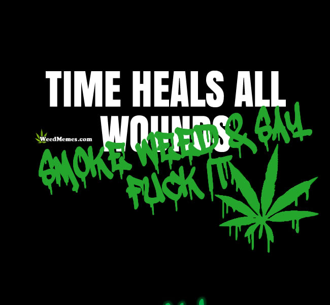 Time Heals All Wounds Smoke Weed Say F**k It Weed Memes