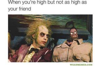 Beetlejuice High Funny Weed Memes Beetlejuice High AF 420 Memes