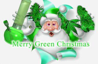 Merry Green Christmas Stoner Santa Weed Christmas List Weed Memes