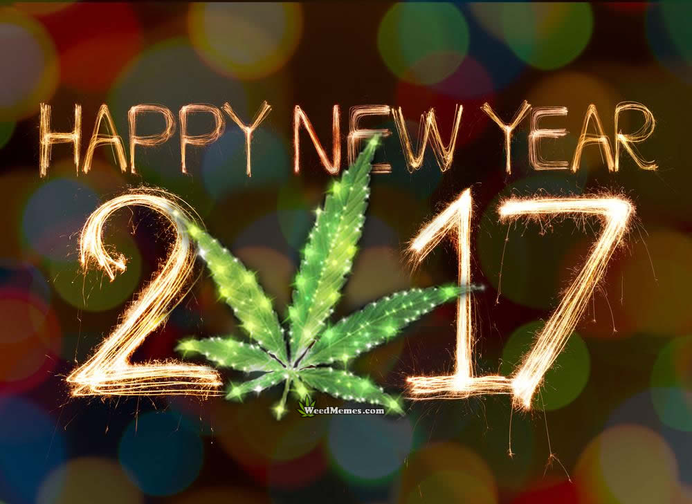 Happy New Year 2017 Marijuana Leaf – Weed Memes