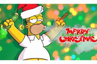 Homer Simpson Stoned Blunts & Bong Christmas Weed Memes
