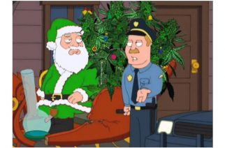 Stoner Santa Taking Trees Christmas 420 Cartoons