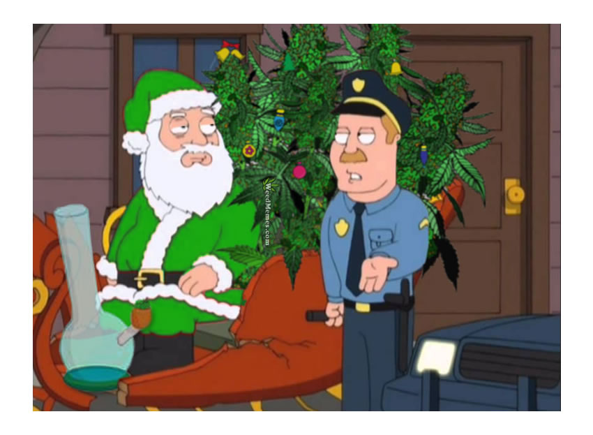 Stoner Santa Christmas 420 Cartoons