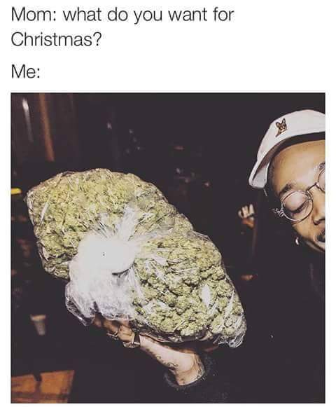 Wiz Khalifa Christmas Wish for Weed Marijuana Memes